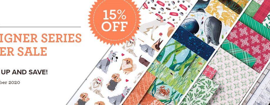 Designer Series Paper Sale on  NOW!