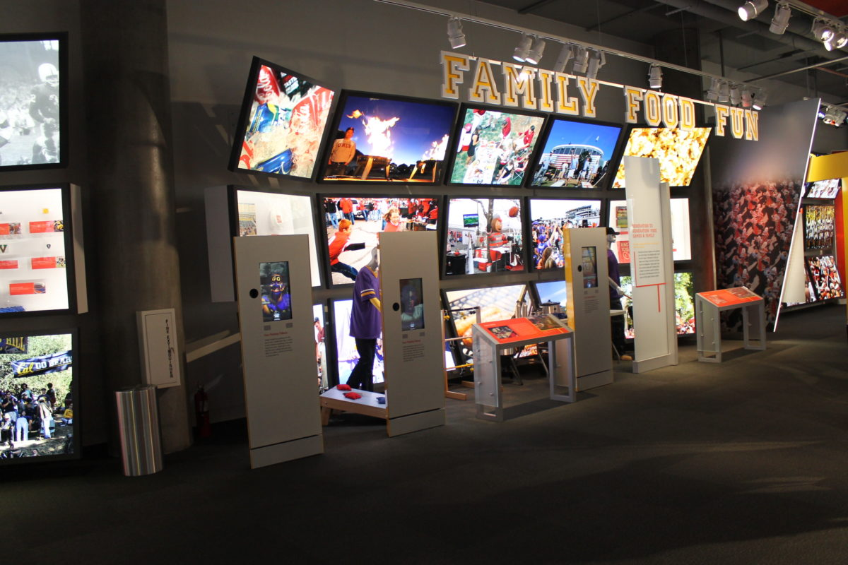 experiential installation for a football exhibit