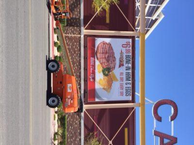 large format printing in as Vegas advertising a restaurant