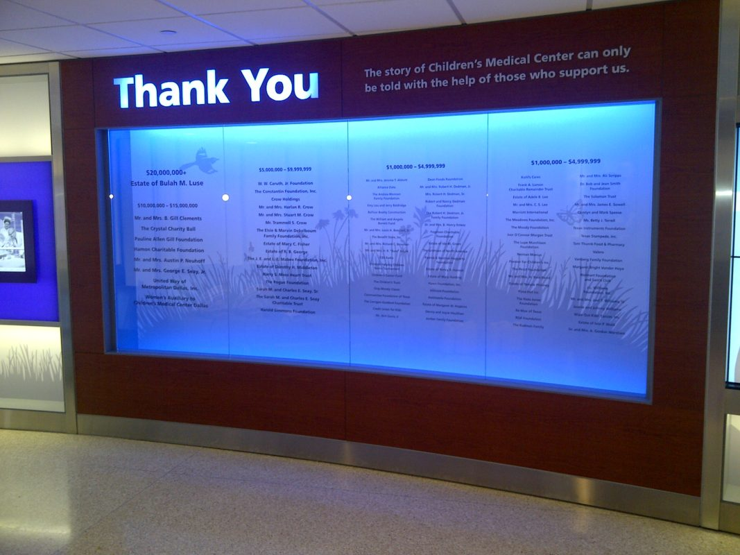 children's hospital lowing display