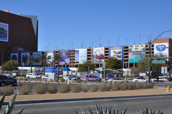 large banners in Las Vegas on the World Market Center