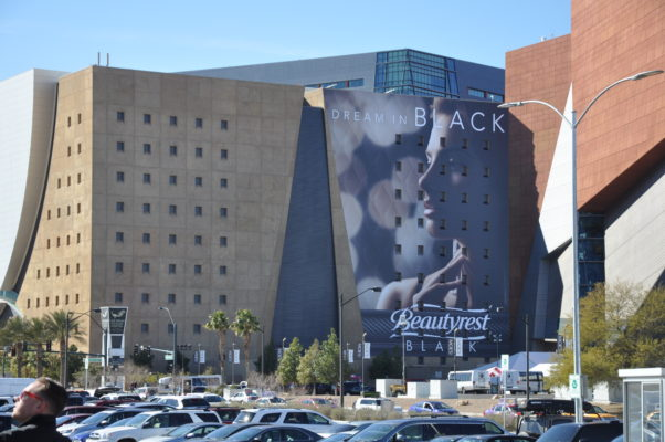 large format graphic in Las Vegas on the World Market Center