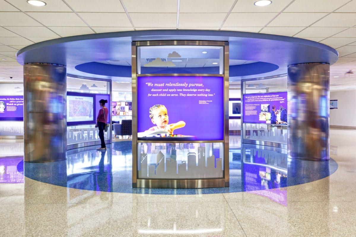 round indoor digital display