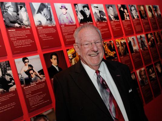 picture of man with las vegas memorabilia