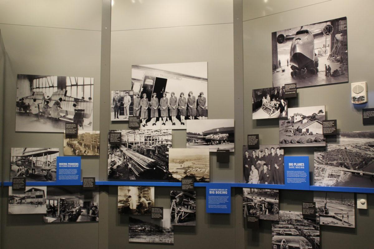 historic airplane flight display