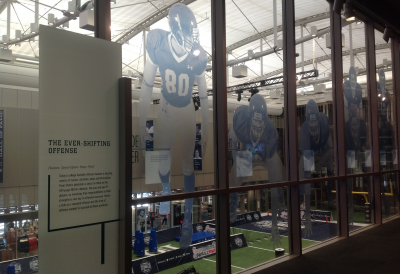 window graphics for a football display