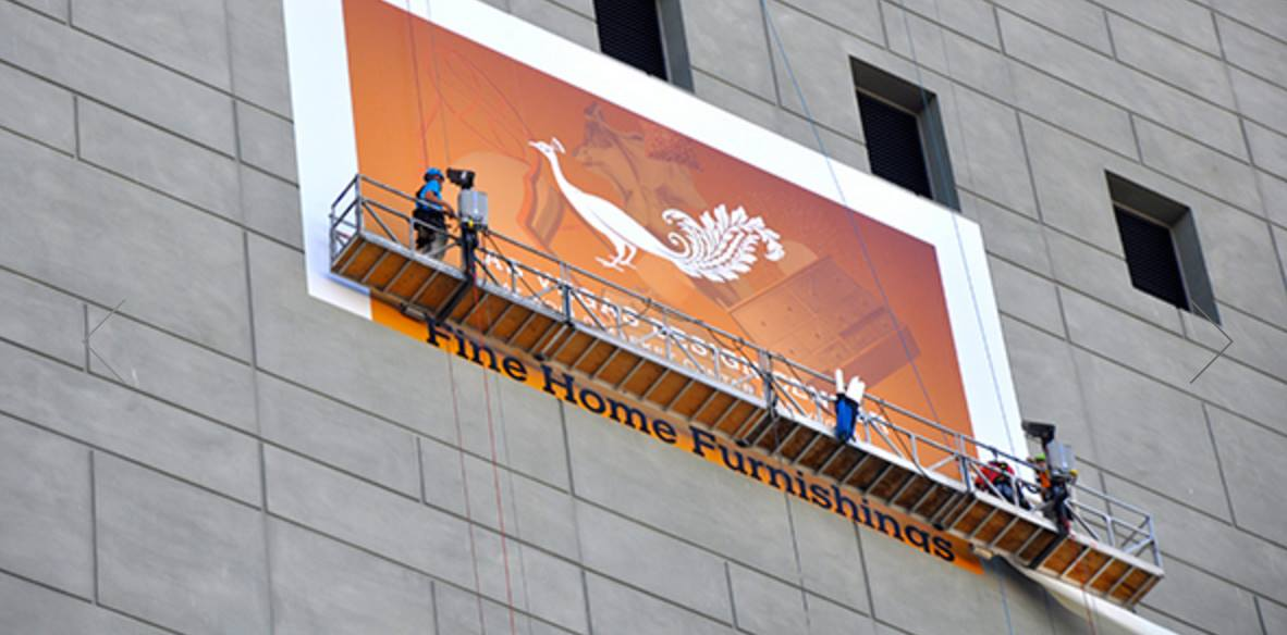 peacock banner in las vegas