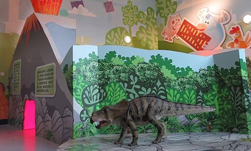 Children's dinosaur display