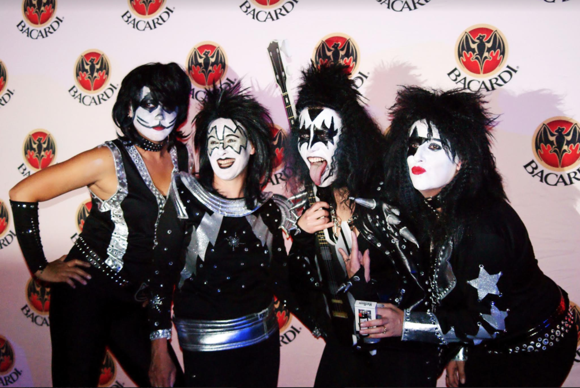 rock group in face paint