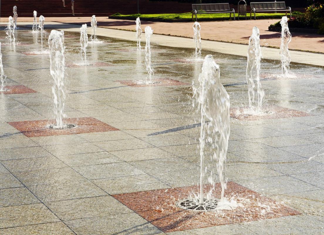 Water Fountains during summer heat