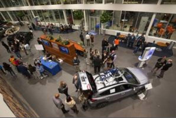 Car trade show display