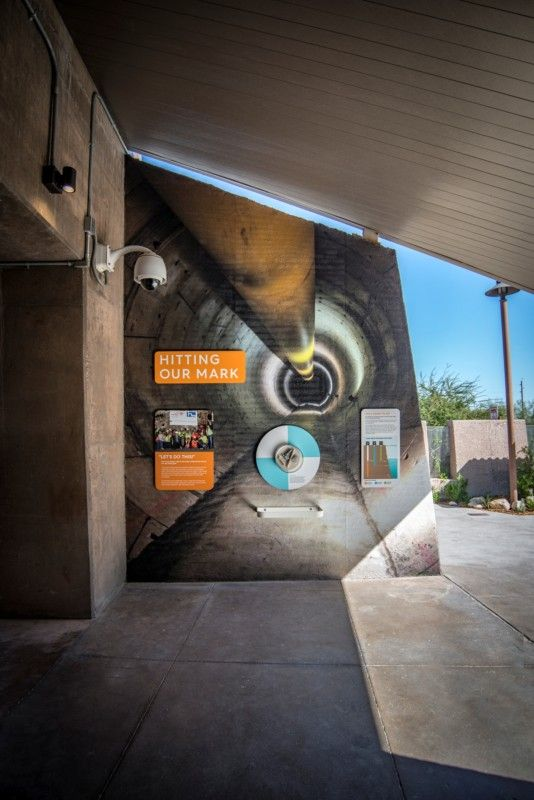 wall graphics with a picture of a tunnel