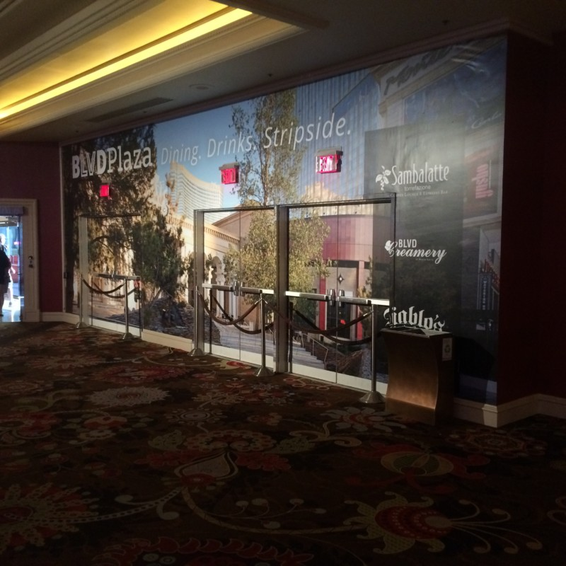 wall graphics with pictures of buildings