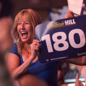 US & Masters Darts Audience with Sign