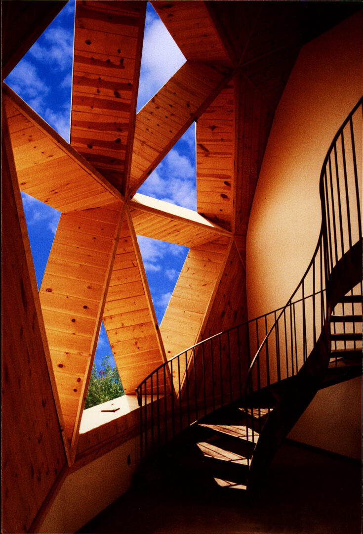 Two-story tall and wide window hexagon