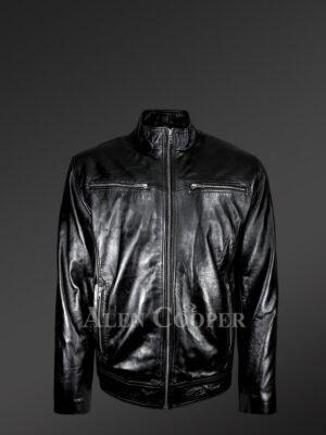 Men's Regular Cut Biker Jacket - Alen Cooper