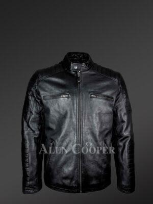 Men's Moto Biker Jacket in Back - Alen Cooper