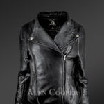 Stunning-Black-Pure-Leather-Jacket-With-Lapel-Collar-New