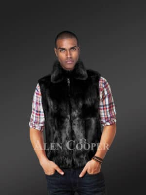 Real fur sleeveless winter outerwear new