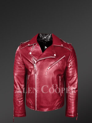 Lapel-collar-super-stylish-real-leather-biker-jacket-for-men-in-wine new