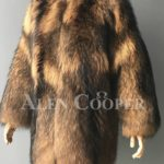 Women Stylish n floppy real raccoon fur winter outerwear