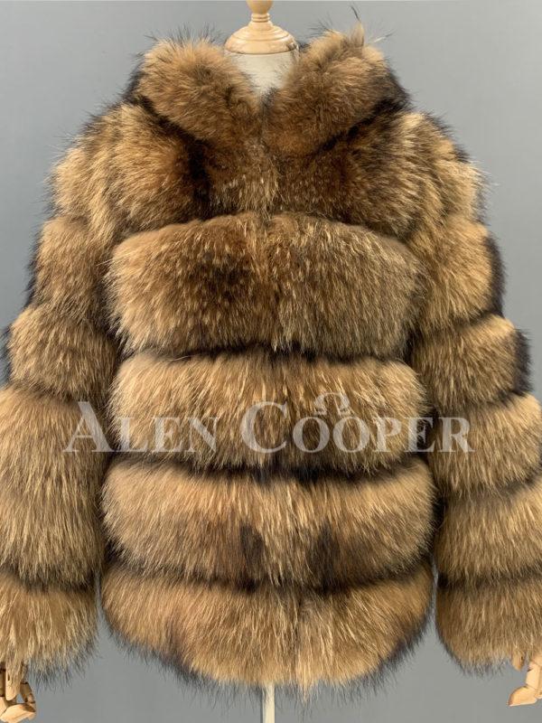 women Real raccoon fur sable winter vest