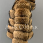 women Real raccoon fur sable winter vest for side view