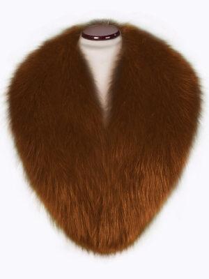 Real fox fur super warm detachable collar in tan