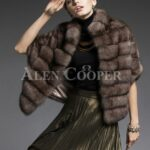 Cropped Russian sable fur coat jacket fusing style with functionality for modern women