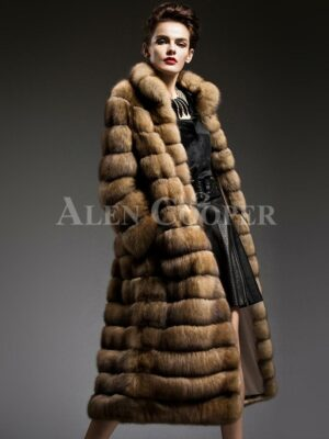 Exclusive and unique long sable fur coats redefining the style and aura of the modern women's