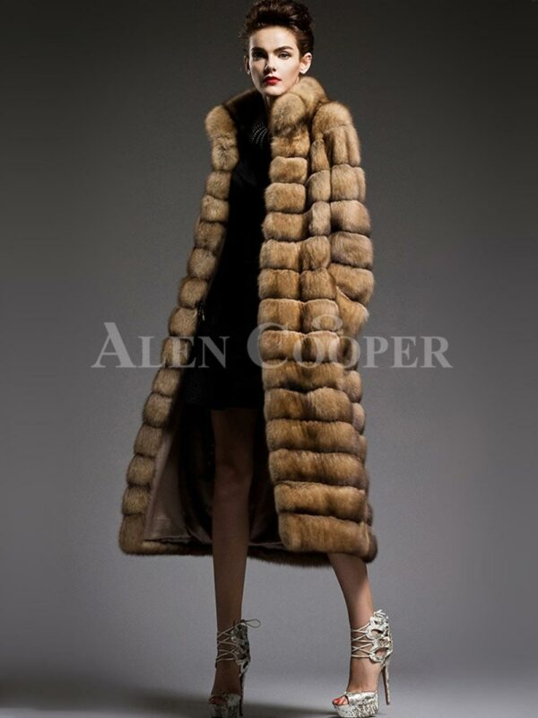 Exclusive and unique long sable fur coats redefining the style and aura of the modern womens