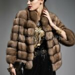 Exotic range of cropped Russian sable fur jacket for modern and stylish women