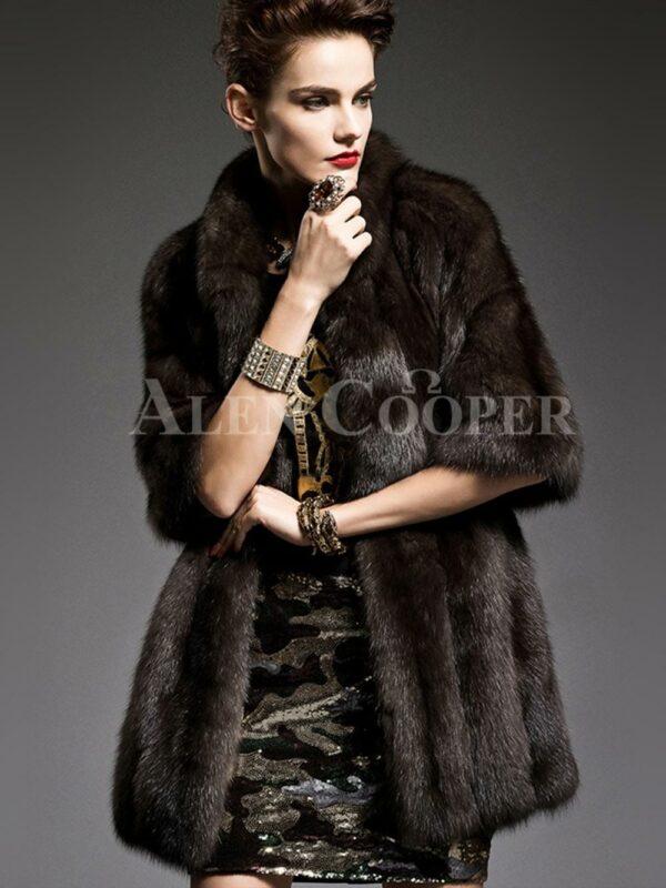 Unique version of Russian sable fur half sleeve coats to refurbish the aura of modern women's