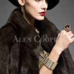 Unique version of Russian sable fur half sleeve coats to refurbish the aura of modern womens