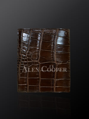 Authentic leather wallets made from horn back alligator skin (2)