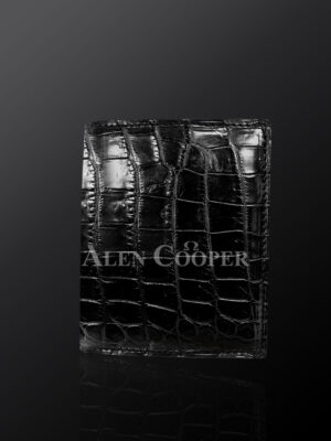 Tastefully designed authentic leather wallets in black (3)