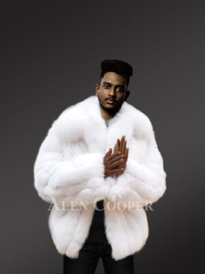 Arctic fox fur jackets for men to reinvent your masculinity sideview