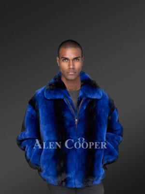 Men's Rex Rabbit Bomber Jacket for more tasteful and appealing you