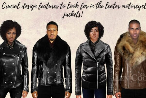 3 Crucial design features to look for in leather motorcycle jackets