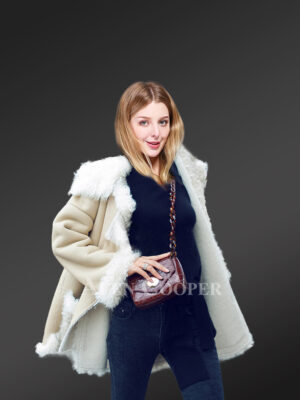 Authentic shearling coats reinventing charm for women