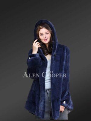 Cape Mink Fur Jacket For Women