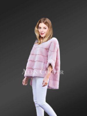 Cropped Mink Fur Jacket for Elegant Women