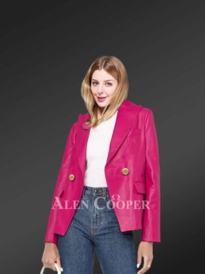 Authentic leather jackets in pink for gorgeous women