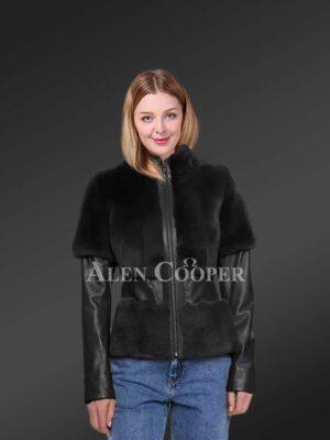 Black Mink Fur Coat For Elegant Women
