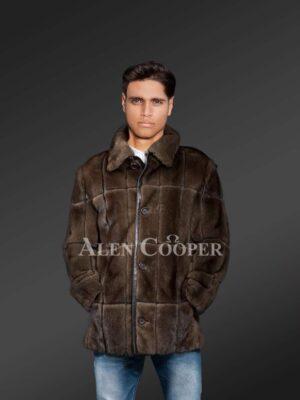 Classic Mink Fur Jacket For Men