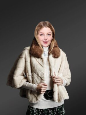 Cropped Mink Fur Cape To Redefine Style For Trendier Women