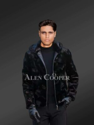 Men's Mink Fur Jacket With Detachable Hood