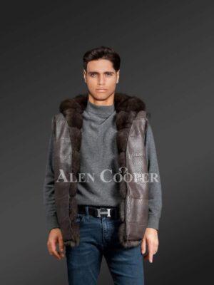 Mens Sable Fur Reversible Vest