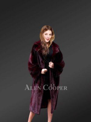 Mink Fur Coat For Elegant Women