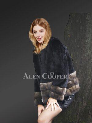 Mink Fur Jacket with Sable Fur Trim